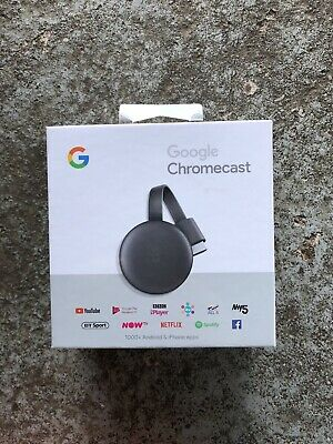 Google Chromecast 3rd Generation Media Streamer - Black New