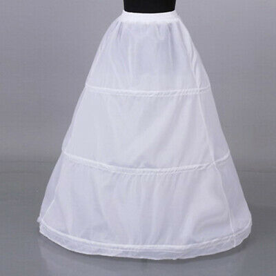 1Pc Women 3 Hoop Crinoline Wedding Ball Gown Bridal Dress Petticoat Skirt KWZO