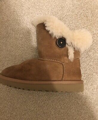 Girls Chestnut Ugg Bailey Button Boots Size Infant 10