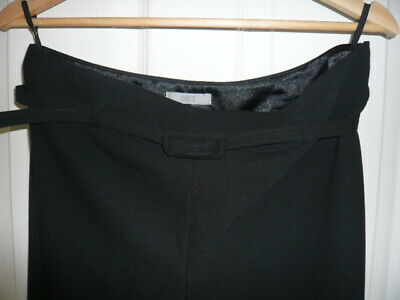 Lovely M&S Black Trousers with great belt detail Size 14
