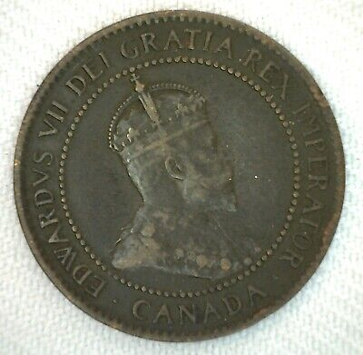 1904 Canada One Cent 1c Coin Large Cent Bronze You Grade