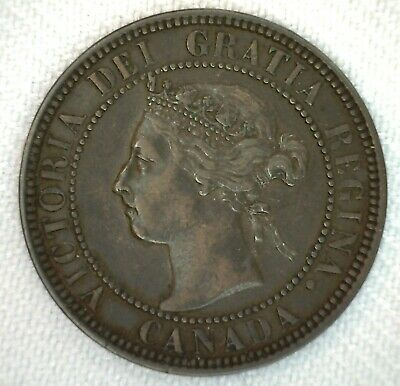 1901 Canada One Cent Coin 1c Bronze Very Fine