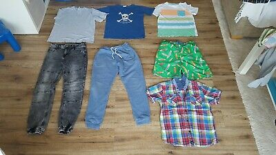 Bundle Of 7 Boys  Items Trunks Tops Shirt Jeans Joggers Age 10-11 Years Next f&f