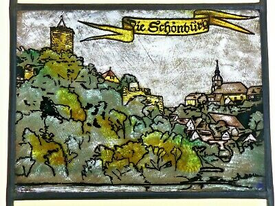 Leaded Glass Old Window Image Stained Glass Die Schoenburg on E.Antique Glass