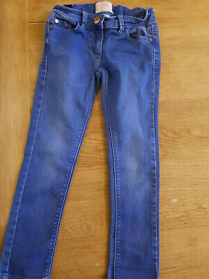 Next Girls Bright Blue Skinny Jeans Age 7 Years