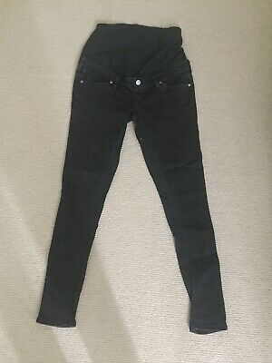 GUC Target Maternity Over The Belly Black Skinny Jeans (Size AU8)