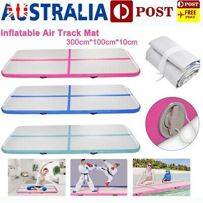 3*1m Airtrack Inflatable Air Track Tumbling Mat Floor Gymnastics Exercise & Pump