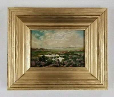 Antique Impressive 19th to 20th Century Early American Landscape Old Painting