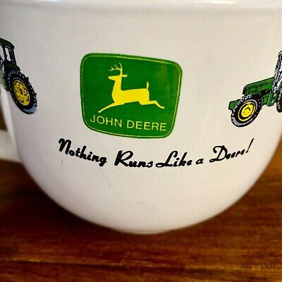 John Deere Mug 24oz Large Soup Bowl White Authentic Gibson Ice Cream Bowl Coffee