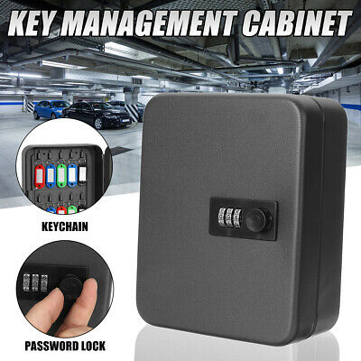 20Pcs Key Cabinet Lockable Box Metal Hook Security Safe Storage Wall Mounted