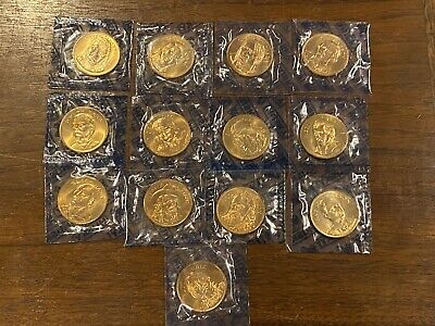 COMPLETE SET Of 13 Franklin Mint RUGGED AMERICANS Commemorative Coins In SLABS