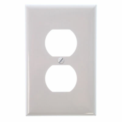 Cooper 1-Gang White Standard Duplex Receptacle Nylon Wall Plates (10 Pack)