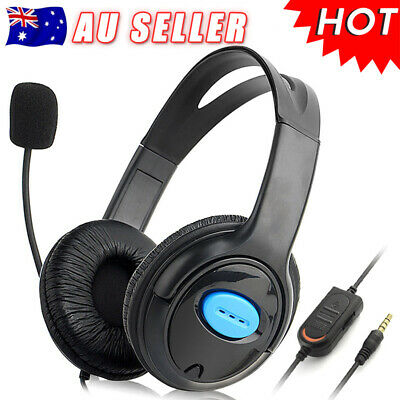 Stereo Gaming Headset Headphone Microphone Volume for Sony PS4 PlayStation 4