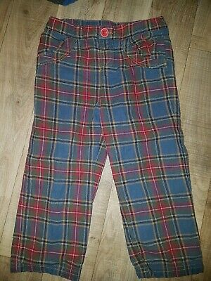 Joules Boy Tartan Trousers 2-3 years lined