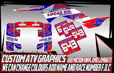 Honda Trx 450R Honda Trx 250R  Graphics Decals