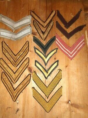 Job Lot Of 15 Vintage Army Stripes