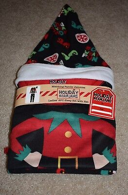 New Holiday Family Jammies Large Elf Sleep Set Santa Hat Christmas FamJams Pjs
