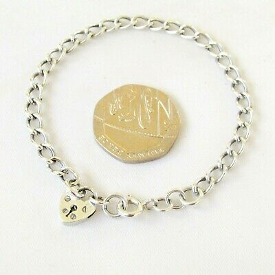 Vintage solid sterling silver child's charm bracelet 6 1/2 inches long