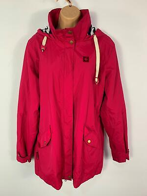 Women Mountain Warehouse Cerise Pink Light Weight Casual Raincoat Jacket Size14