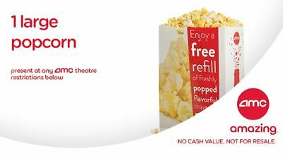 AMC Large Popcorn and Large Coke at the Movies exp. 12/31/2020-Email Delivery