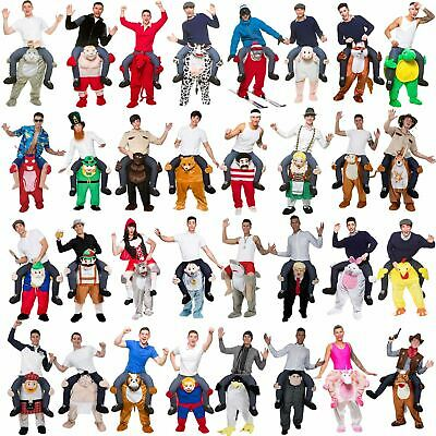 New Mens Ladies Shoulder Carry Me Ride On Fancy Dress Comedy Costume Outfit