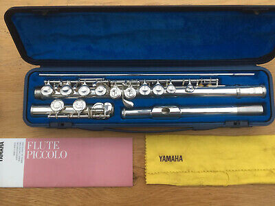 Yamaha YFL 211S flute with hard case plus flute music with piano accompaniment