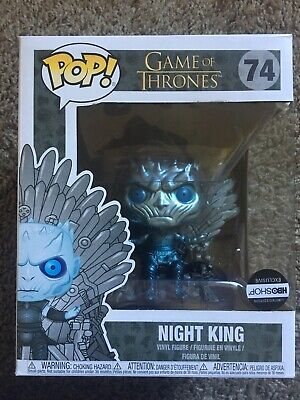 "Funko Pop! Game of Thrones Night King 6""  #74 Hbo Ex Metallic"