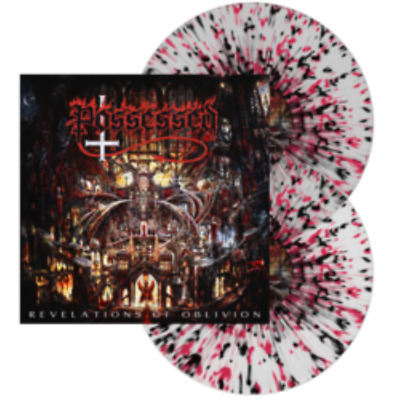 Possessed Revelations of Oblivion Clear with Red + Black splatter vinyl Lp