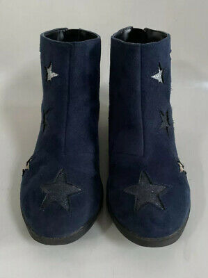 Monsoon Kids Girls Navy Storm Metallic Star Boots * UK Size 1 * Used