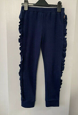 Baker By Ted Baker Girls Navy Sparkle Leggings Joggers * Age 8-9 * Used