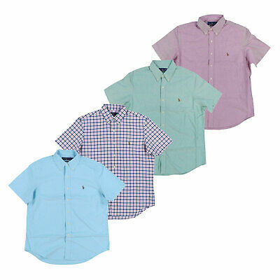 Polo Ralph Lauren Mens Oxford Buttondown Classic Shirt Short Sleeve S M L Xl Xxl