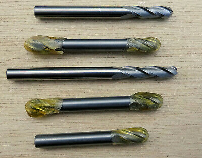 5 x 6mm ball nose solid carbide CNC milling cutters slot drill end mill