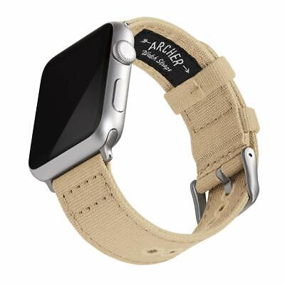Archer Watch Straps - Canvas Watch Bands for Apple Watch | Multiple Colors, 38/4