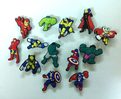 Mixed Super Heros PVC Shoe Charms for your Crocs and Jibbitz,
