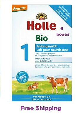 NEW - Holle Stage 1 Organic Infant Formula 6 Boxes 400g + Free Shipping