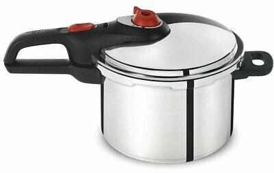 T-Fal Pressure Cooker 6Qt Stainless Steel Aluminum 12-Psi Kitchen Cookware