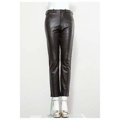 Stunning butter soft chocolate brown leather RAF SIMONS leather pants