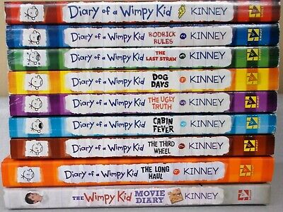 Lot of 9 Diary of a Wimpy Kid books by Jeff Kinney