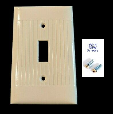 nMint Vintage ART DECO IVORY Bakelite Switch Wall Plate Cover Mid Century SCREWS