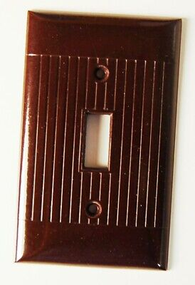 VG+ to NM Vintage ART DECO BROWN Bakelite Switch Wall Plate Cover Mid Century