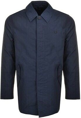 Brand New Mens Navy Fred Perry Tonic Caban Mac Size L