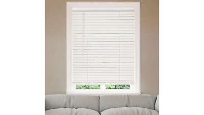 """2"""" Cordless Faux Wood Blinds - White"""