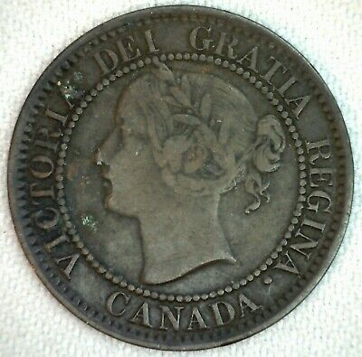 1859 Canada Large Cent One Cent Bronze Coin 1c Canadian Coin You Grade