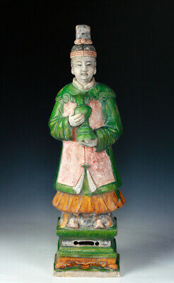 *Sc* Important Xl Ming Dynasty Tomb Pottery Figure - 62-63 Cm.!