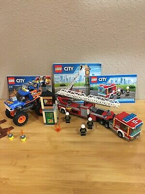Lego city Fire Truck 60112 and Lego city Monster Truck 60180