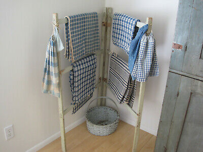 Antique Primitive Green Paint Wood Quilt Drying Rack Wonderful American Find