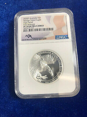 2020 P $1 1 oz Silver Wedge-Tailed Eagle NGC Proof 70 Mercanti