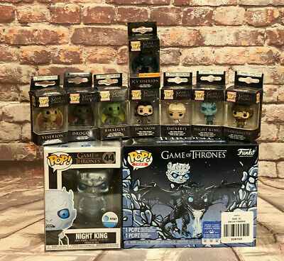 Funko Pop Game Of Thrones Set Includes Boxlunch Exclusive Icy Viserion Pocketpop