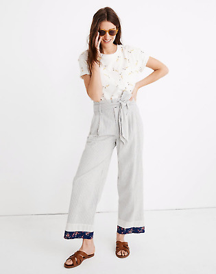 NWT! Women's MADEWELL x The New Denim Project PATCHWORK PAPERBAG PANTS 24 3XL