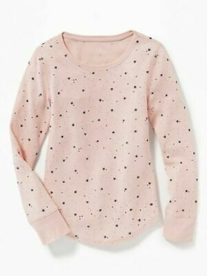 NWT OLD NAVY GIRLS SHIRT TOP THERMAL pink stars XL